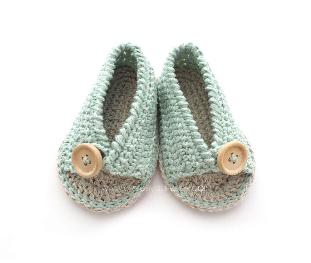 Sandalias de Crochet de Bebé FÁCIL [ Tutorial y Patrón GRATIS ...