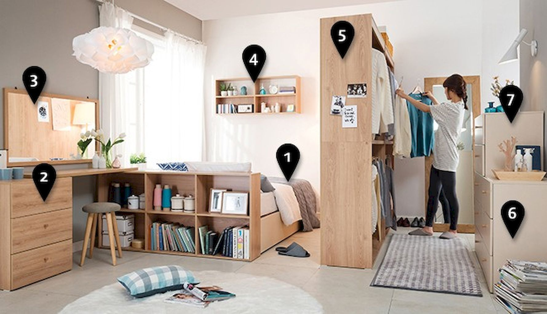 Raumaufteilung Schlafzimmer 100 Awesome Apartment Studio Storage Ideas Organizing