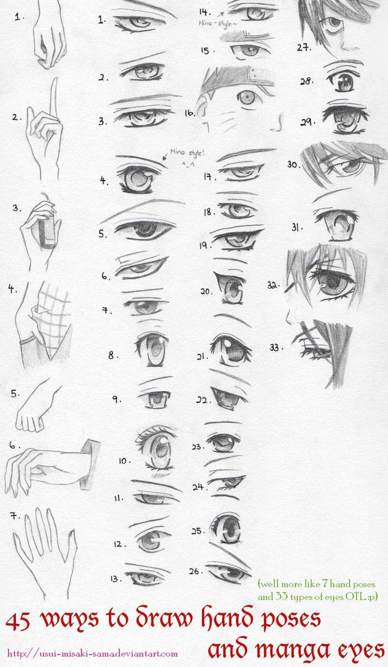 40 Anime Eyes And Hand Poses By Xin Yii On Deviantart Anime Eyes Drawings Eye Drawing
