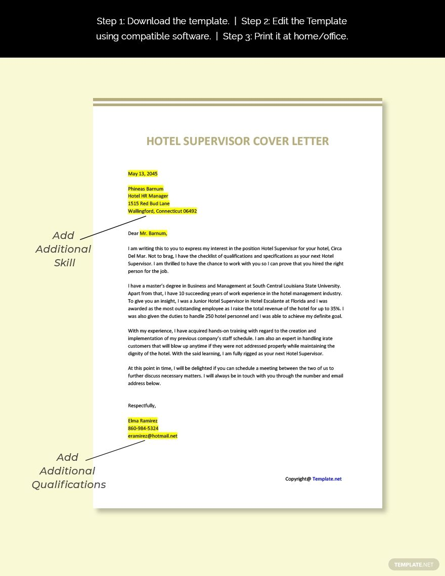 Hotel Supervisor Cover Letter Template Free Pdf Google Docs Word Apple Pages Template Net Cover Letter Template Free Cover Letter Template Lettering