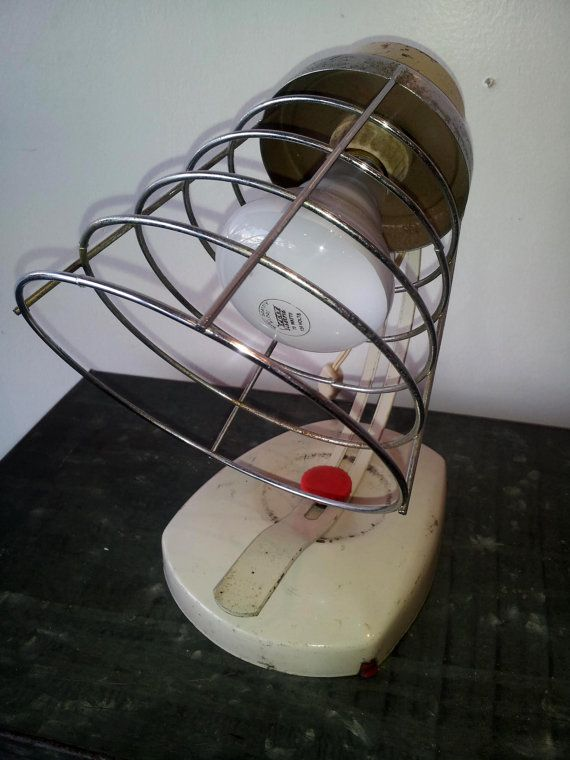 Mid Century Cage Lamp/Heat Lamp by Industrialsalvation on Etsy, $65.00