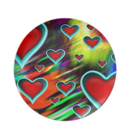 Hearts Party Plate