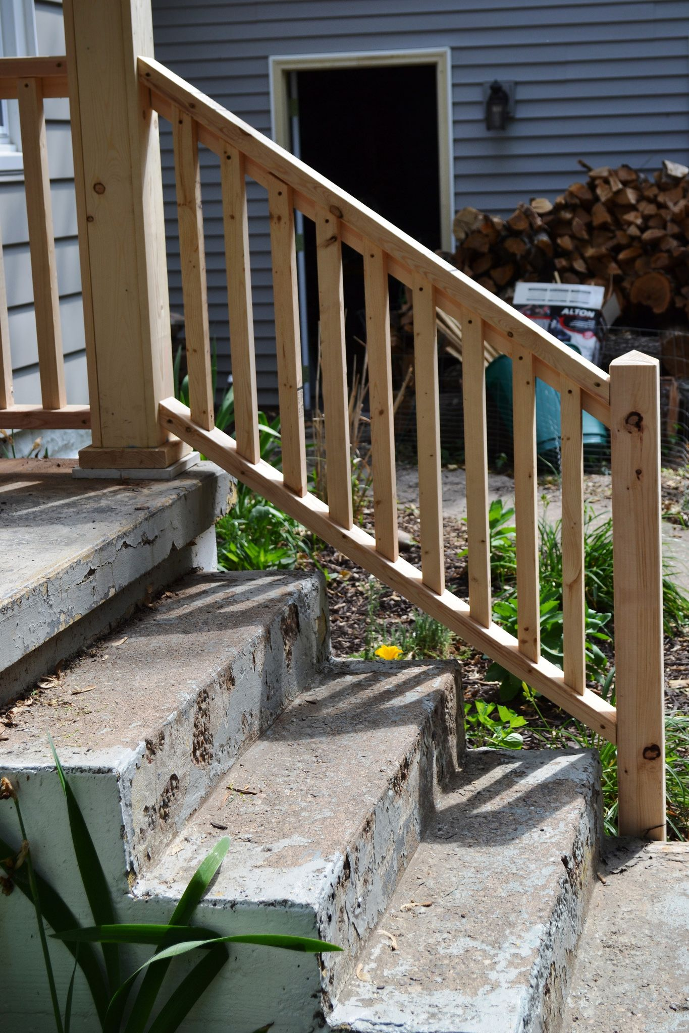 Porch progress and the baby do list   NewlyWoodwards   Railings ...