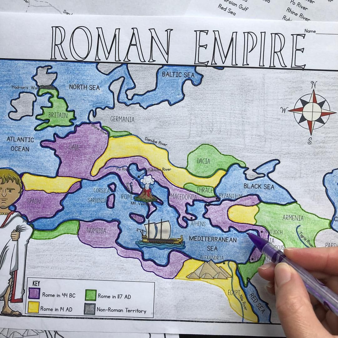 New Map Activity For The Roman Empire Link In Profile
