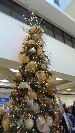 Awesome church christmas ideas styrofoam balls covered Large decorated christmas trees