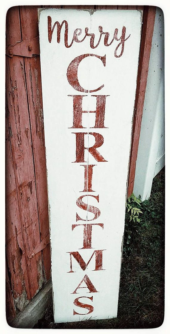 Merry Christmas WELCOME Sign for Porch Rustic Welcome Sign   Wood ...