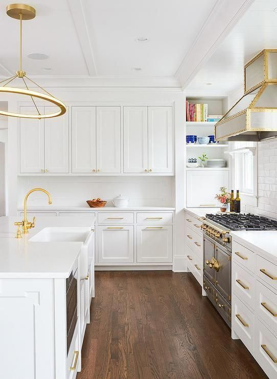 Long Gold Kitchen Handles