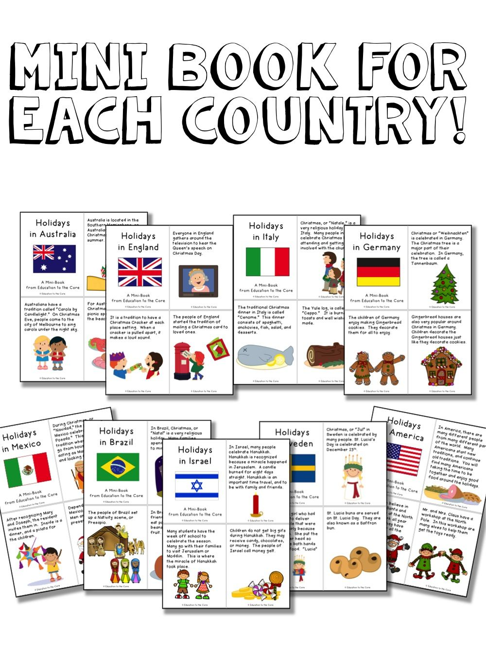 Christmas Around the World Activities and a FREEBIE!