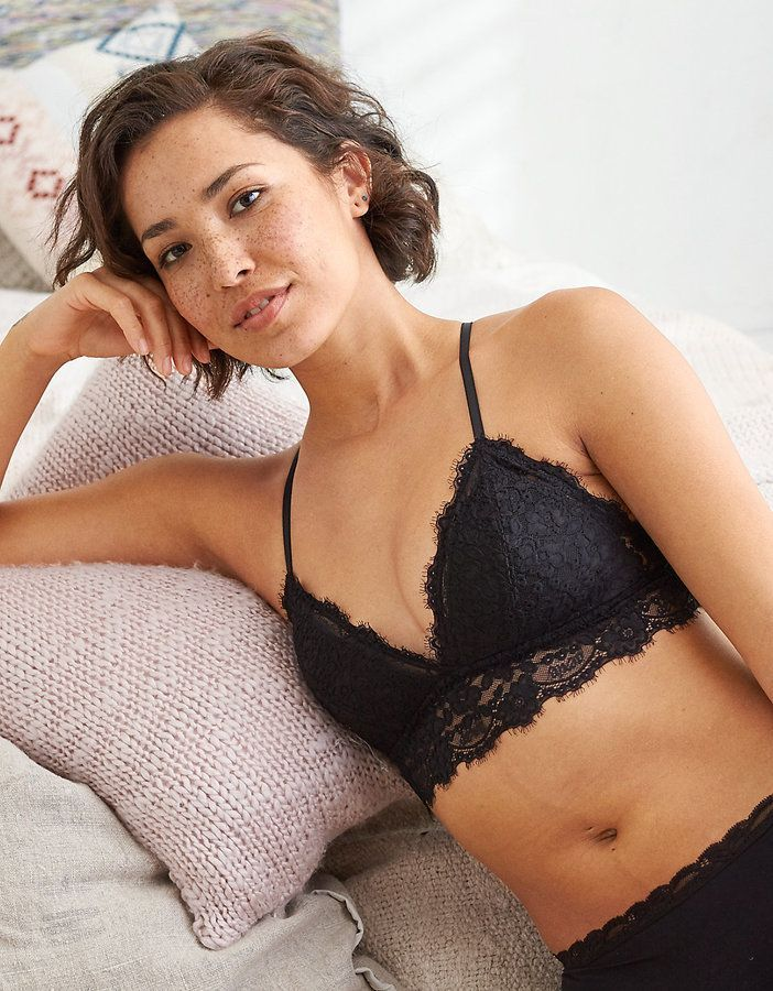 90b75b87a8 Aerie Romantic Lace Padded Bralette