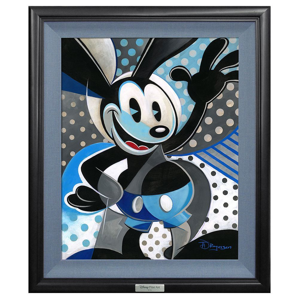Oswald the Lucky Rabbit Silver Series Tim Rogerson LE 500 Canvas NEW Giclee