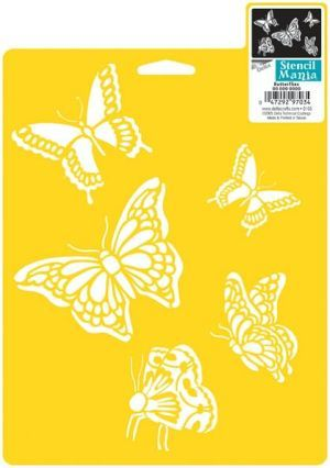 "Stencil Mania Stencil 7""X10""-Butterflies"