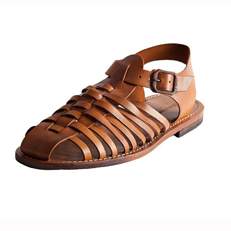 da Sandalo marrone Sandalo uomo Retro Retro zpqxCpIw