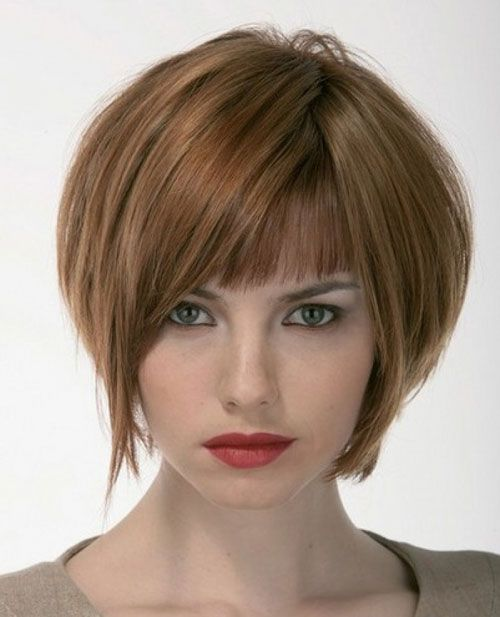 Lovely Short Bob Hairstyles With Bangs Cool Trendy Short - Bob hairstyle images 2014