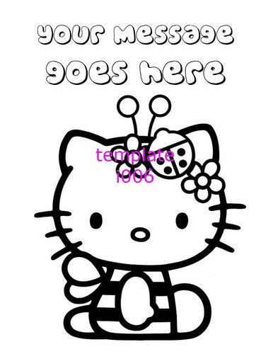 Hello Kitty Personalized Coloring Pages Pdf File Only Party