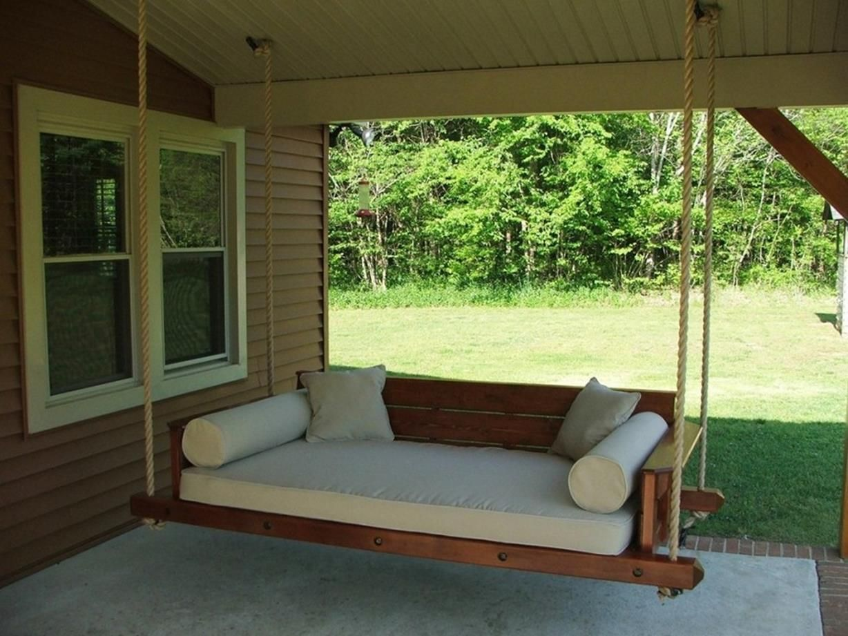 Everyone Can Make 35 Diy Porch Swing Bed Ideas On A Budget Porch Swing Bed Outdoor Porch Bed Porch Bed