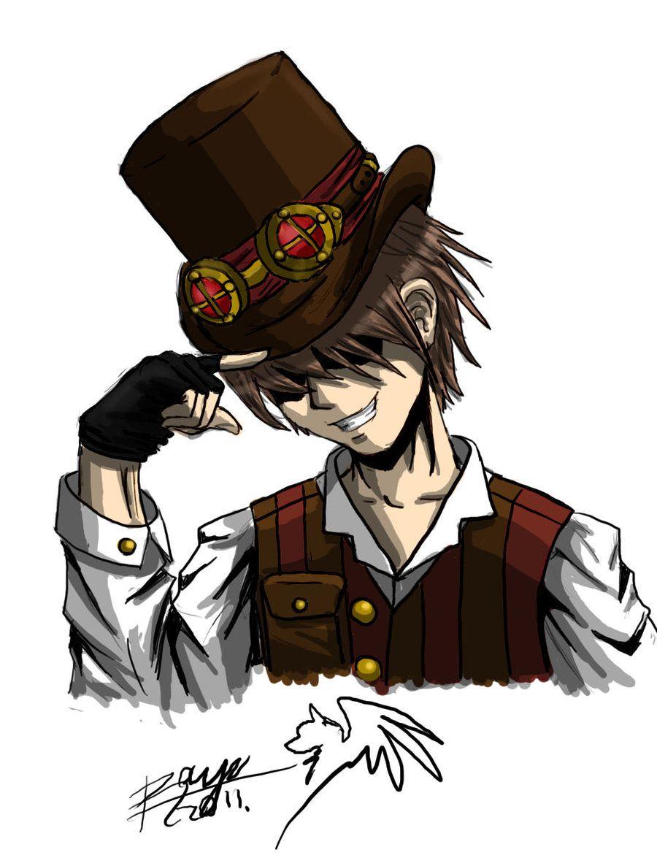 Steampunk Guy Drawing Cartoon Drawings Cartoon Drawings