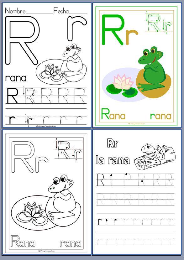 Fichas de lectoescritura con las letras del abecedario | FICHAS DE ...