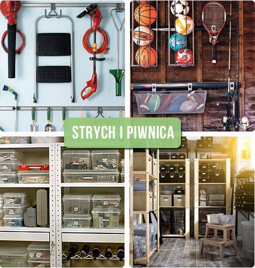 Organizacyjne Inspiracje Pomysly Na Przechowywanie W Piwnicy I Na Strychu Blog O Diy Organizacji Sprz Basement Organization Home Decor Garage Organization