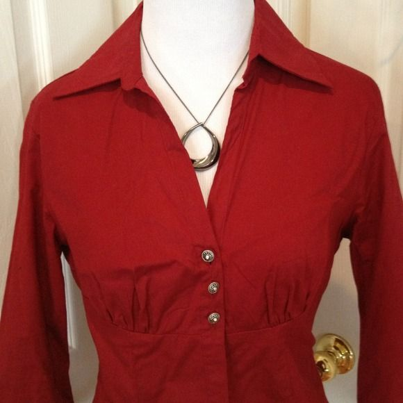Crimson blouse This is more crimson than the pics show. Great color and design. No boundaries Tops Blouses