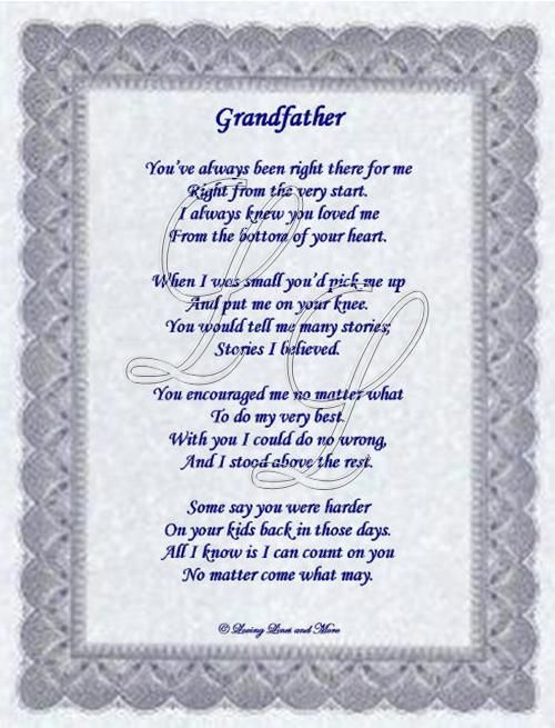 Grandfather | Quotes | Pinterest | Poem and Cards