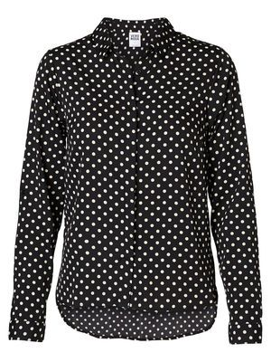 @Veronica MODA #Graphic #pattern SELINAS L/S SHIRT, Black, main