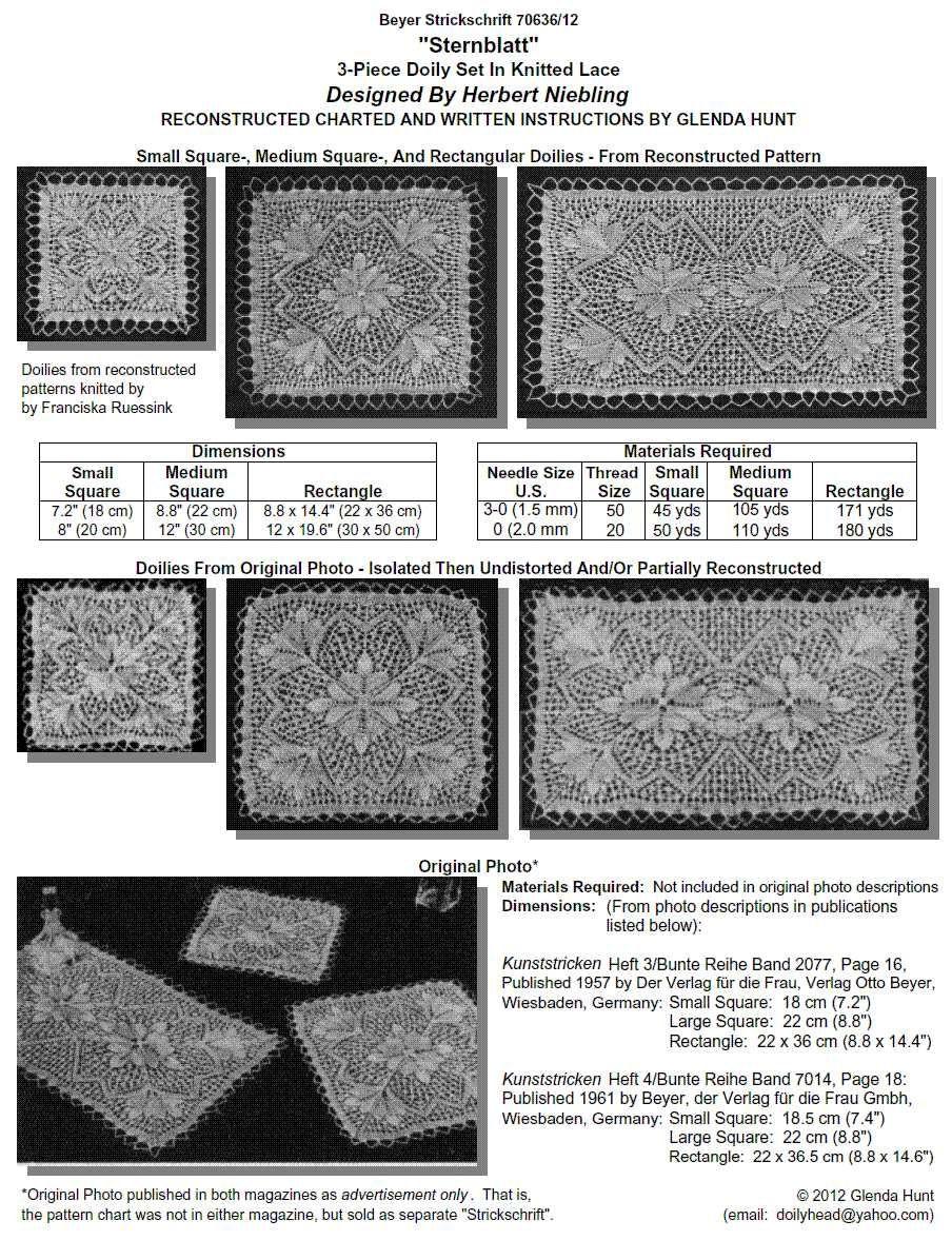 Sternblatt | Lace knitting, Tricot and Pdf