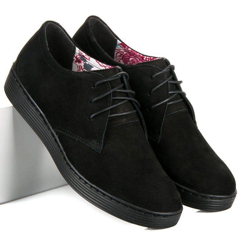 Vinceza Skorzane Polbuty Sportowe Czarne Dress Shoes Men Men Dress Oxford Shoes