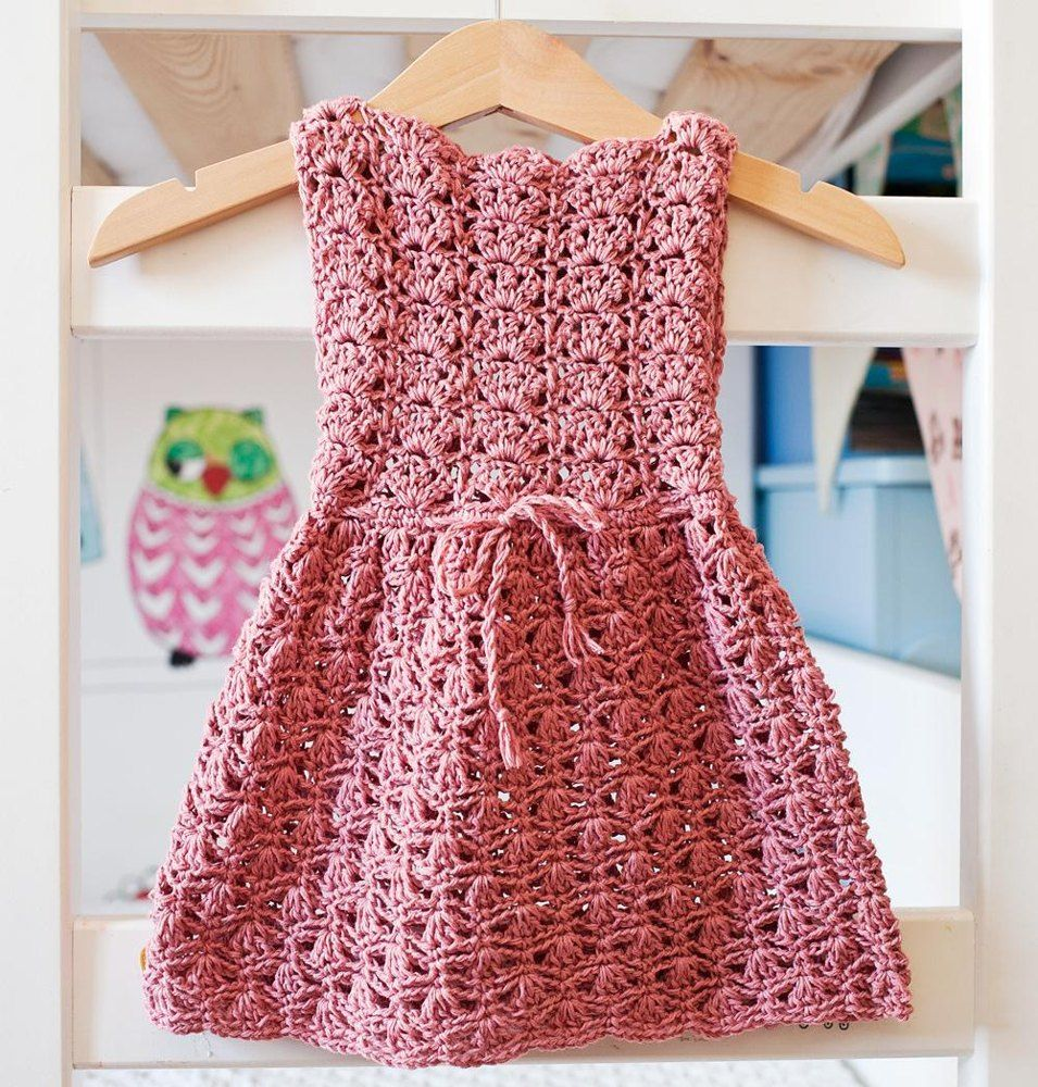 Scalloped Neckline Lace Dress | Crochet, Patterns and Dk weight yarn