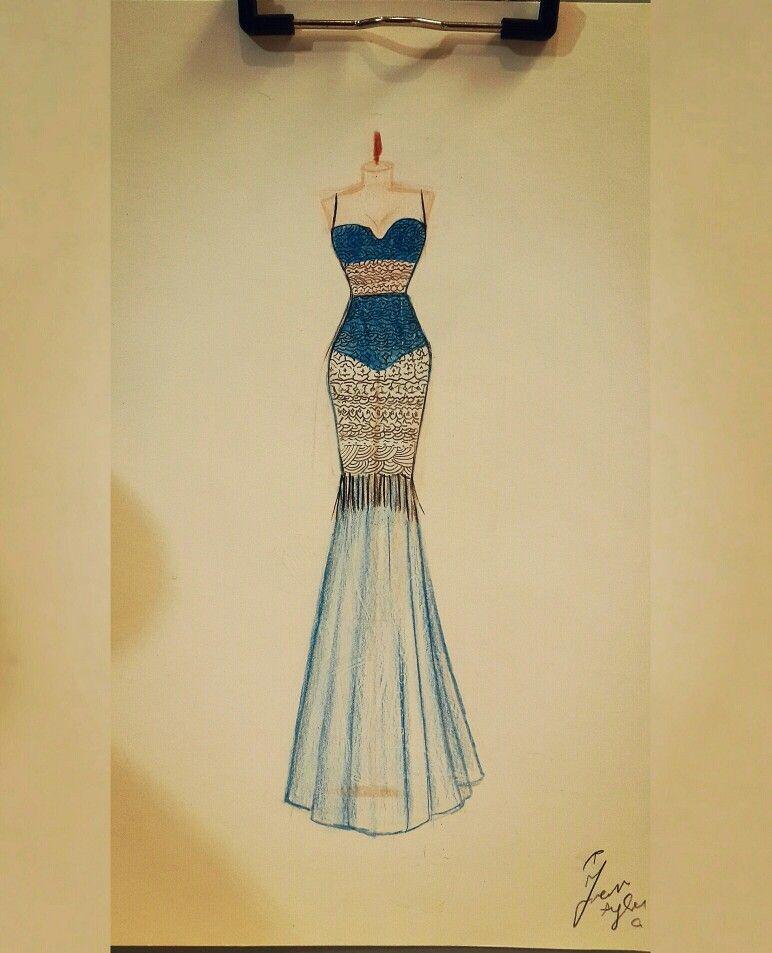 Transparent blue mermaid dress ➿