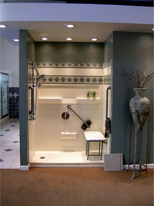 Best Bath Systems low threshold shower with padded shower