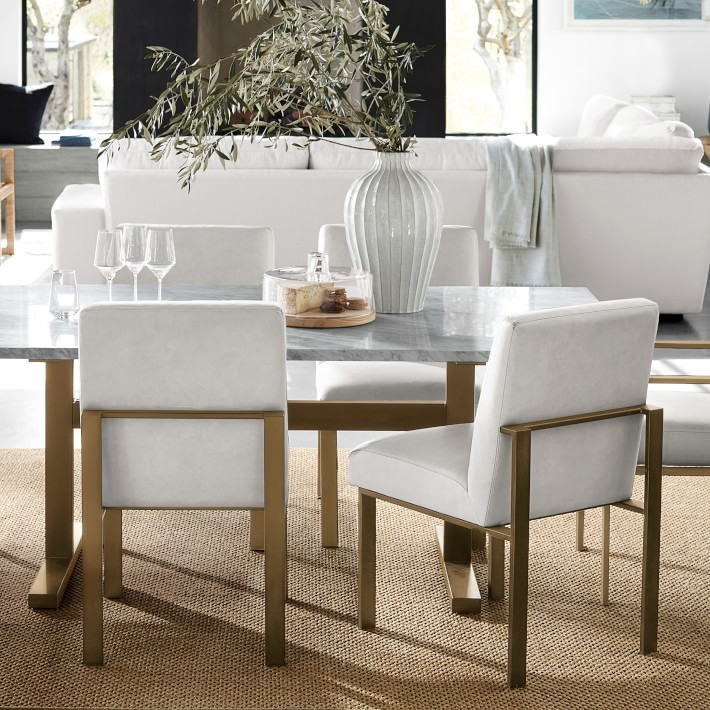 Mercer Dining Side Chair Dining Chair Williams Sonoma Side Chairs Dining Rectangular Dining Table Dining Table Marble