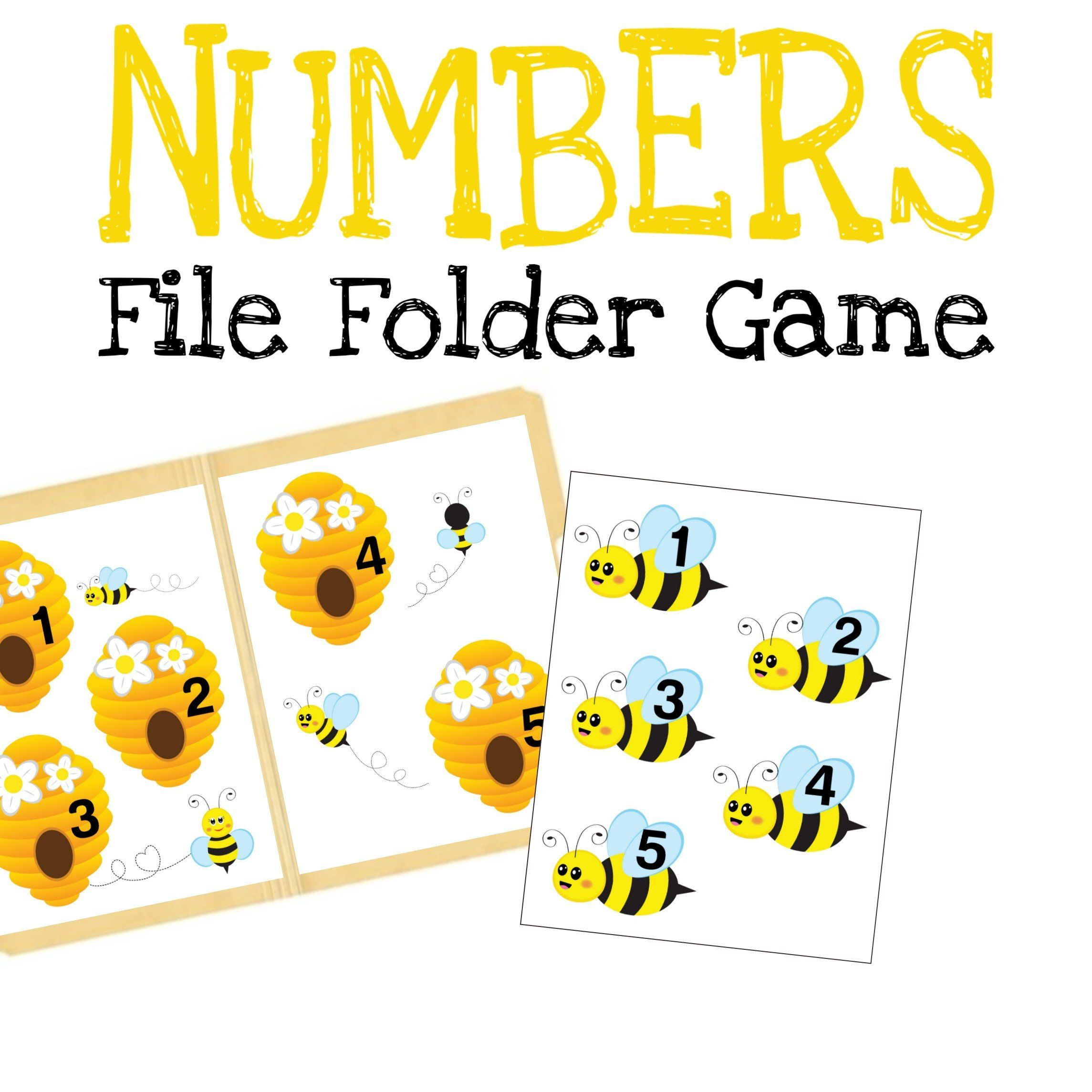 Bees File Folder Games Quiet Book Busy Book Learning