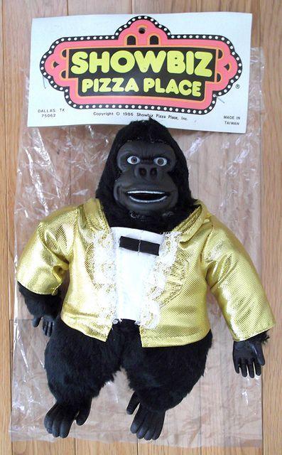 1986 Showbiz Pizza Place Fatz Gorilla Doll Figure Premium