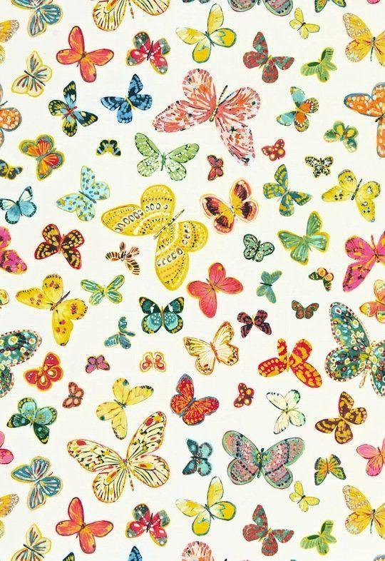 Lulu Dk Child Butterfly Wallpaper Fabric Butterfly
