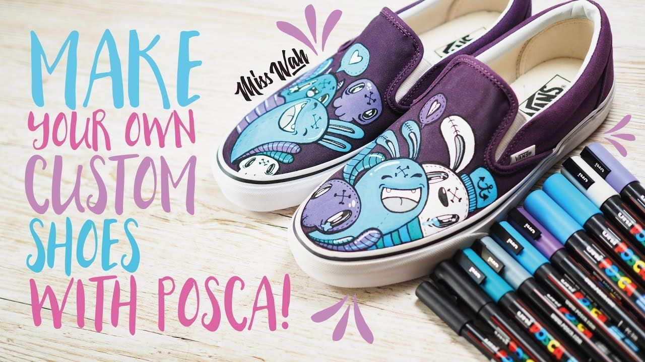 best quality delicate colors hot products Make Your Own Custom Shoes! - With Uniball Posca Pens *Cute ...