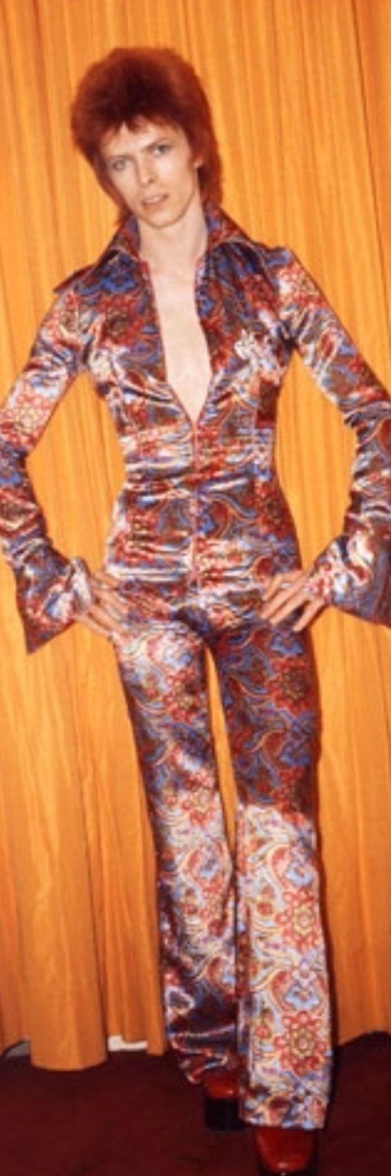 David Bowie jumpsuit David bowie fashion, David bowie