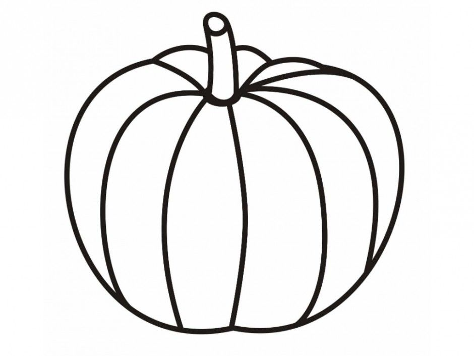 Free Printable Pumpkin Coloring Pages For Kids Blank Pumpkin