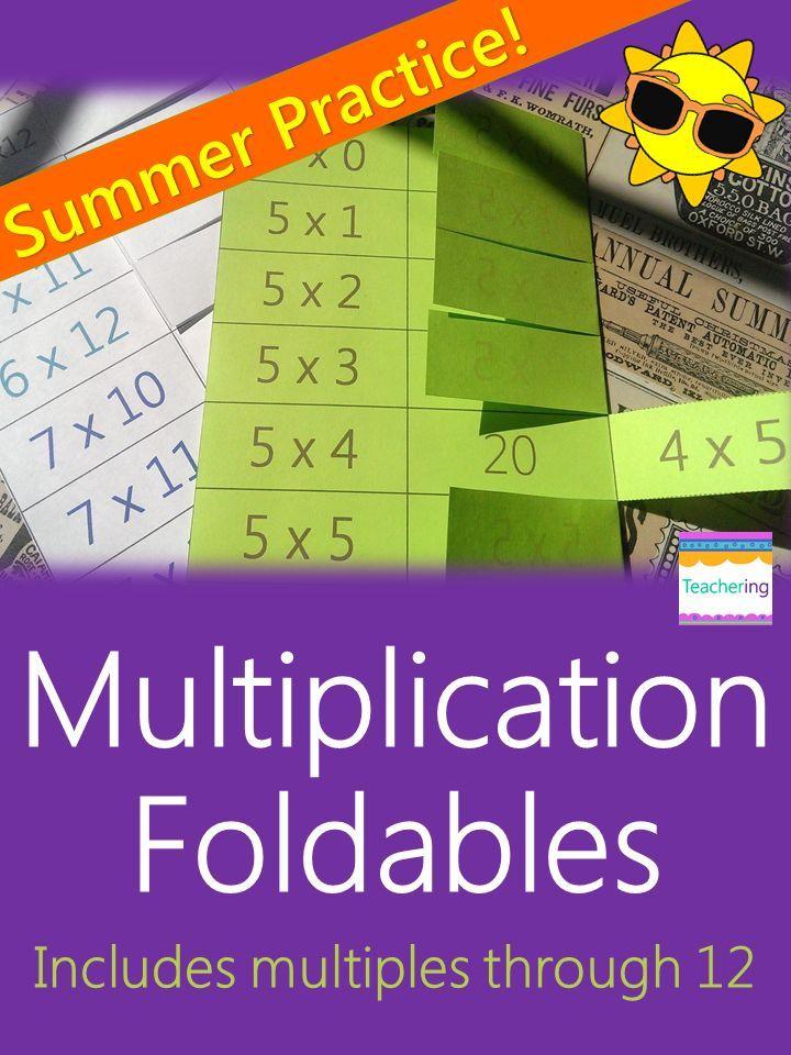 multiplication foldables math flashcards showing commutative property elementary math on tpt. Black Bedroom Furniture Sets. Home Design Ideas