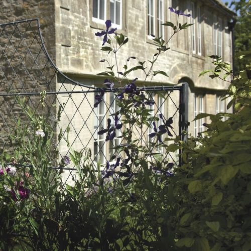 Metal Garden Trellis Fencing With Shaped Tops Seen Here In A The Beautiful