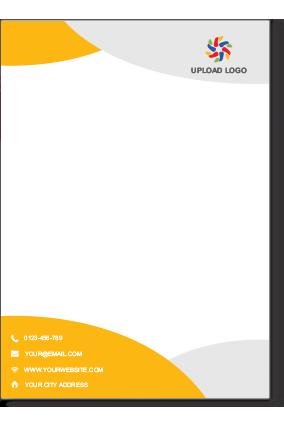 Company Letterhead Online Letterhead Printing Custom Letterheads Design Templates In India Letterhead Design Letterhead Printing Letterhead