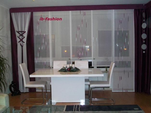 Moderner Schiebevorhang farblich abgestimmt für die Küche -   - gardinen für die küche