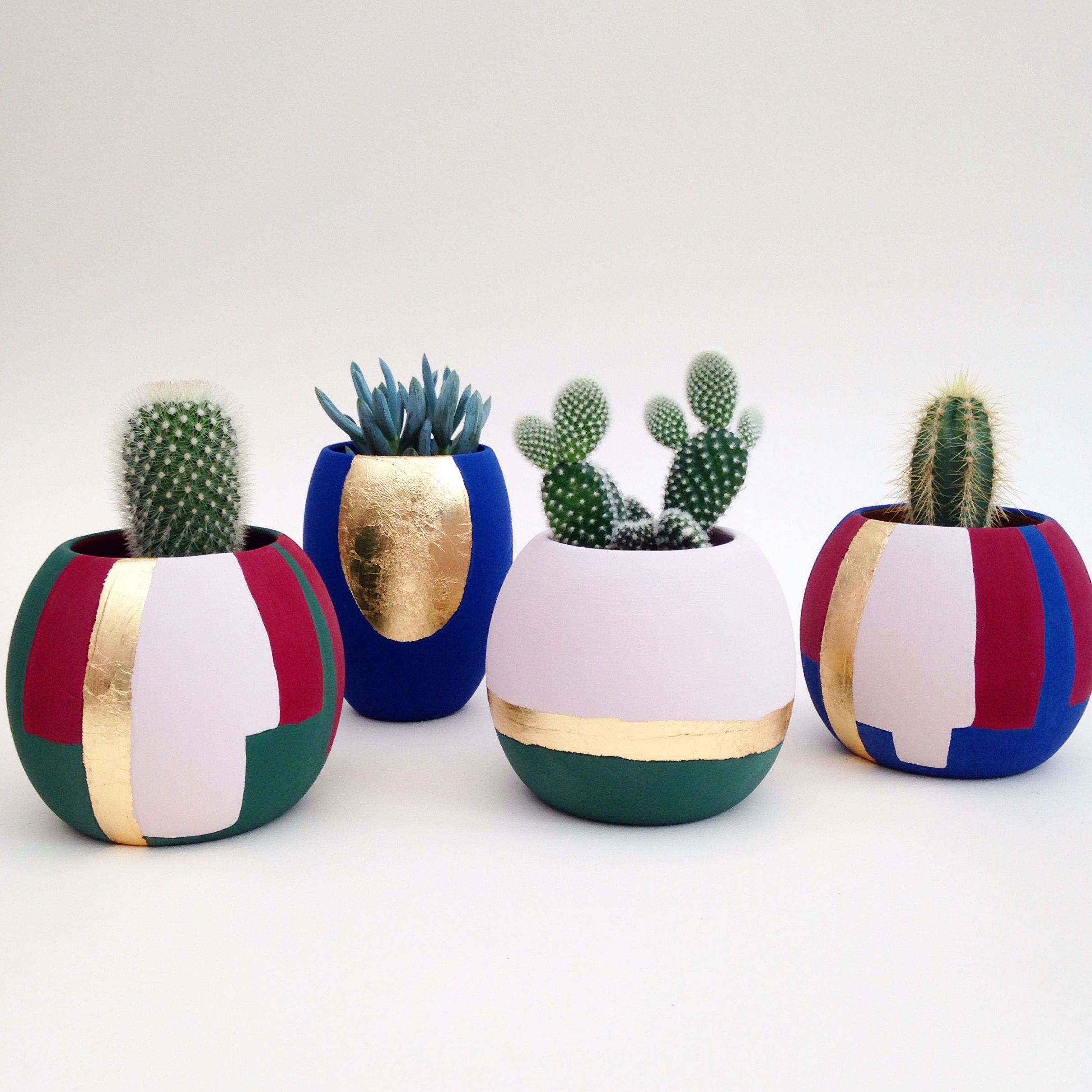 We love the vibrancy and extremely matt finish of our hand paint plant pots  is part of Plant pot diy -