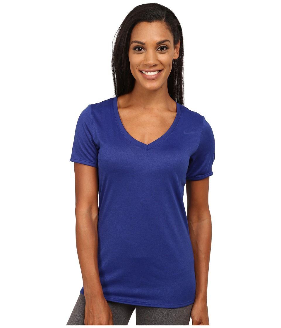 8646a866434d NIKE NIKE - LEGEND 2.0 V-NECK TRAINING TEE (DEEP ROYAL BLUE/DEEP ROYAL BLUE)  WOMEN'S T SHIRT. #nike #cloth #