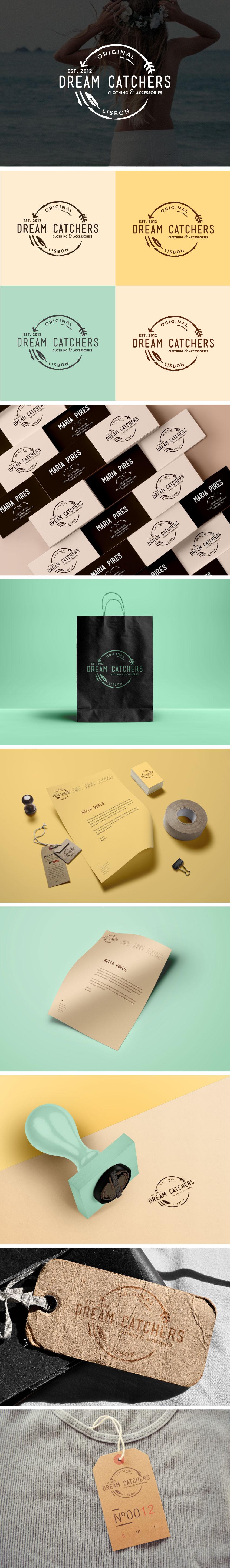 Visual Identity for Dream Catchers by Yana K