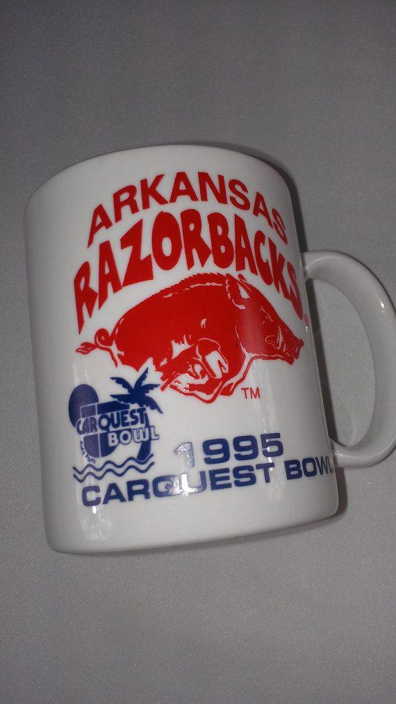 #Arkansas Razorbacks #Coffee Mug Cup 1995 Carquest http://etsy.me/1DP1Q8C #sec #90s #vintage #humpday #midwest