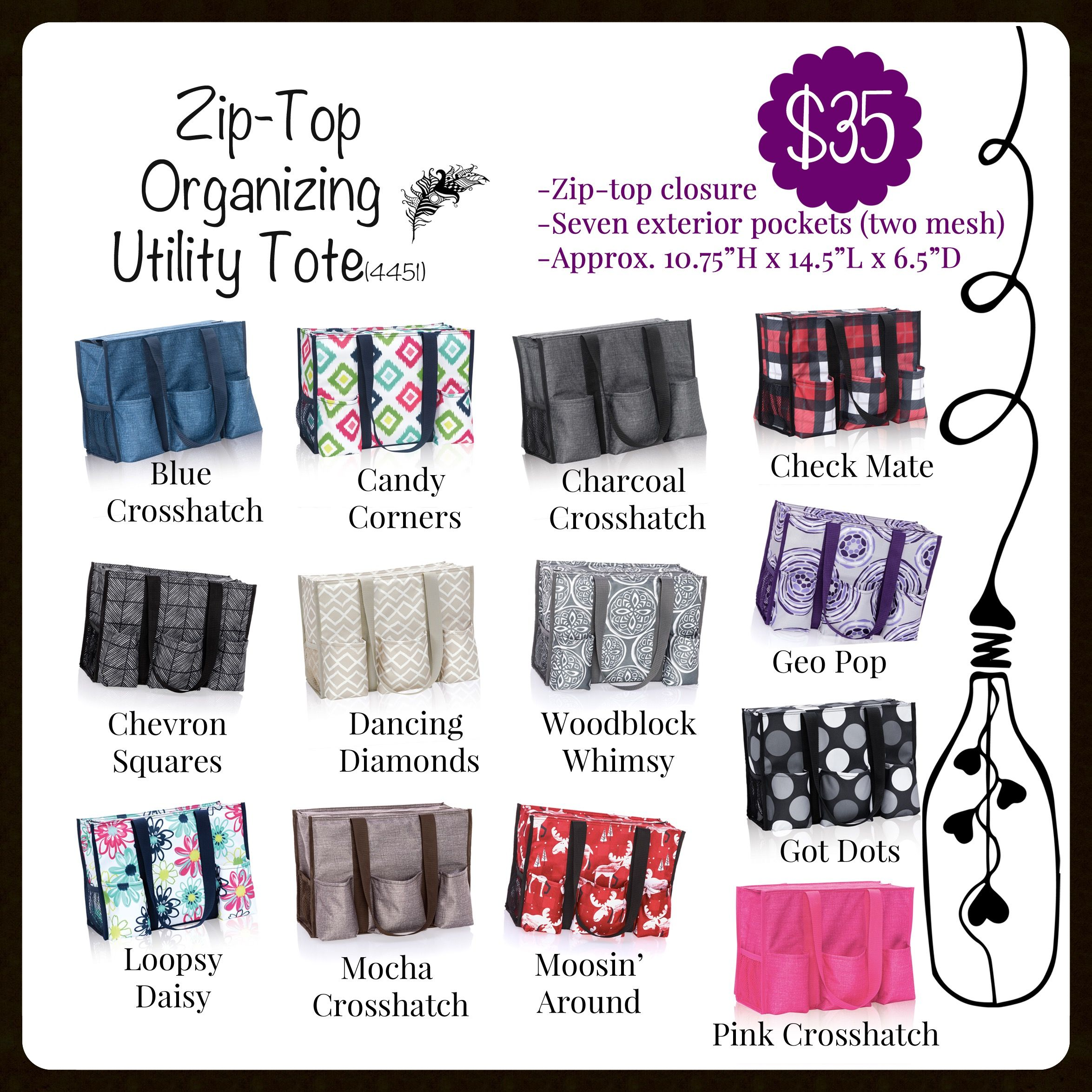The Zip Top Organizing Utility Tote Aka Zout A Customer And