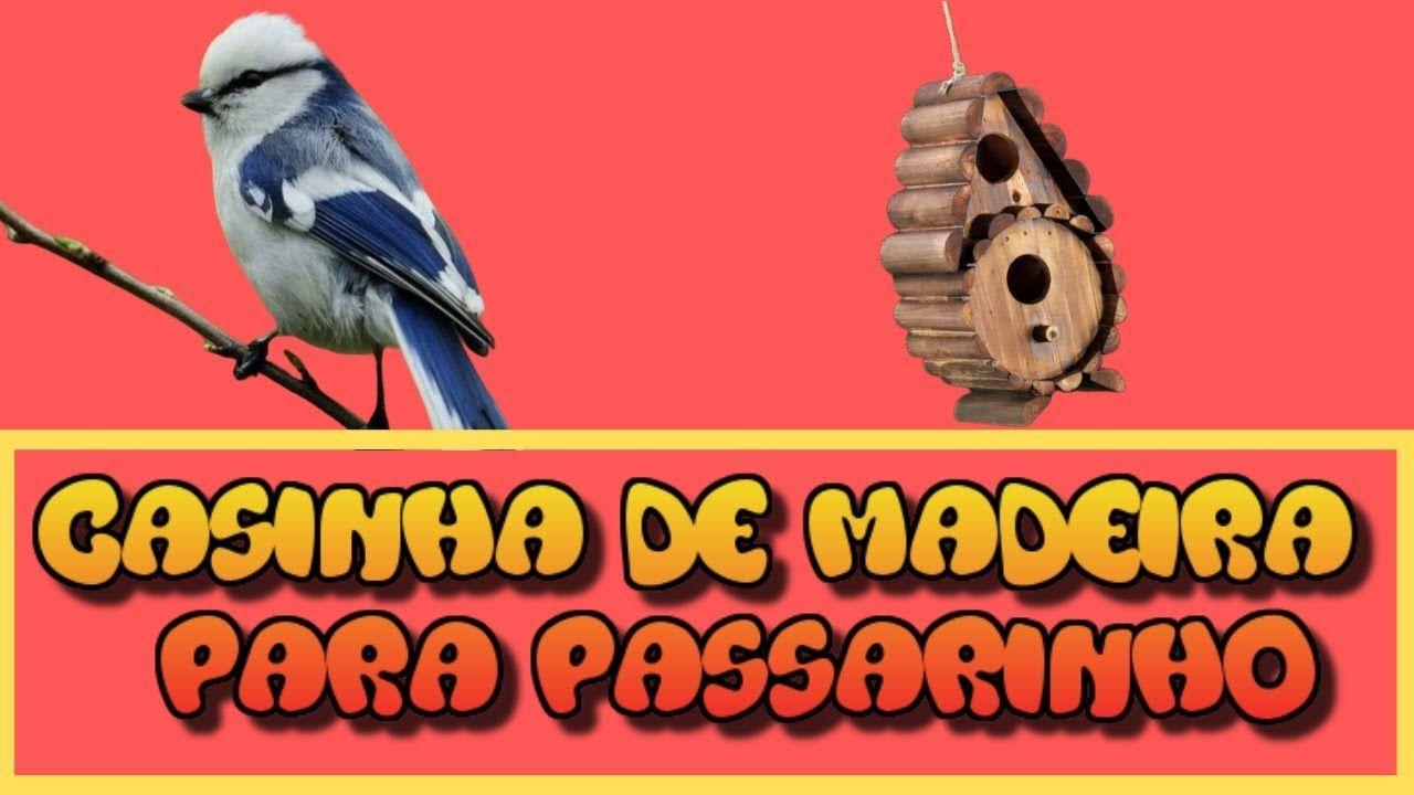 Como Fazer uma Casa de Passarinho - Casa de Passarinho de Madeira - Casa... #caixasdemadeira