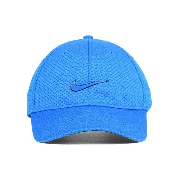 ab9a3a6fe Nike Heritage Dri-Fit Mesh Cap ($25) ❤ liked on Polyvore featuring ...