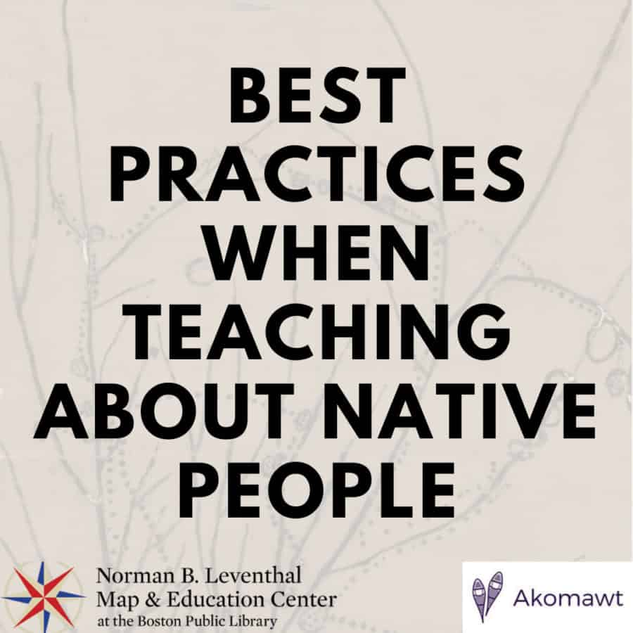 Best Practices When Teaching About Native People Native People Teaching Social Media Coaching [ 900 x 900 Pixel ]
