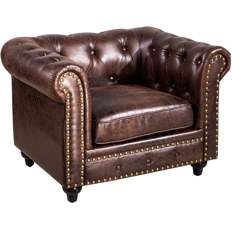 Chesterfield Tufted Sofa Brown Tufted Chair Chair Chesterfield Chair